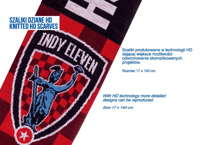 Tomadex szaliki dziane hd high definition knitted scarves indy eleven