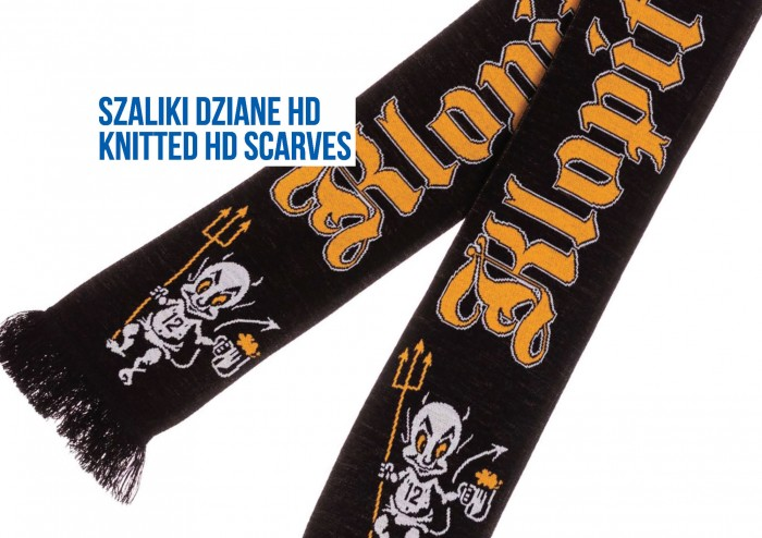 Tomadex szalik dziany hd high definition knitted scarf