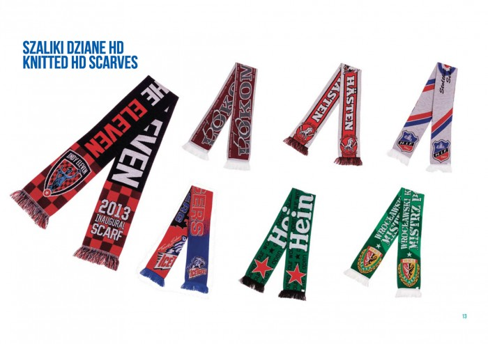 Tomadex szaliki dziane hd high definition knitted scarves hif heineken slask